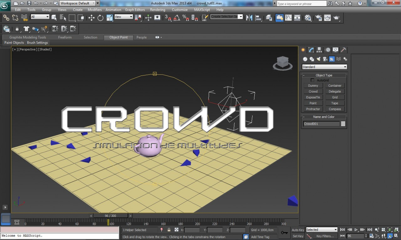 CROWD – Simulacion de multitudes
