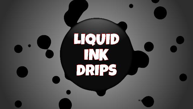Gotas de Tinta Liquida